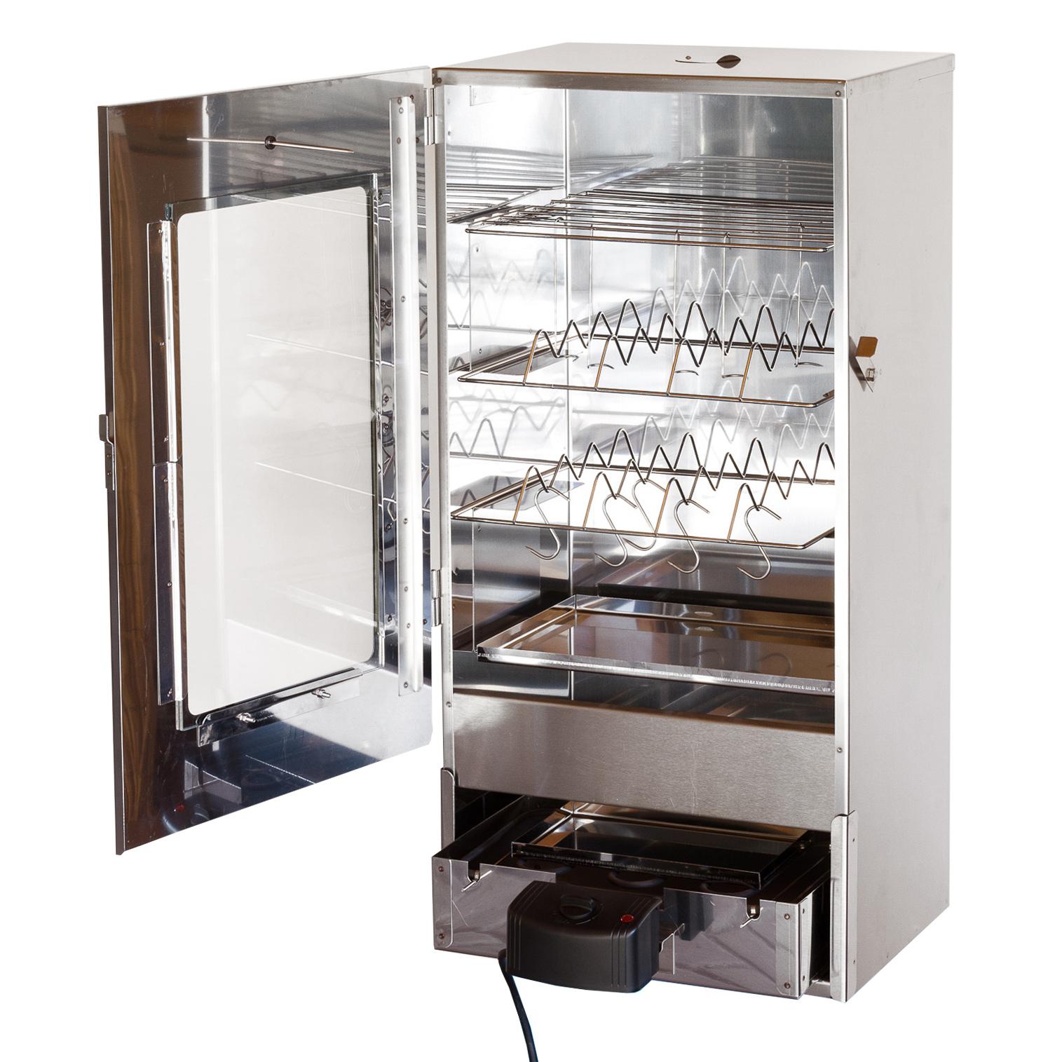 xxl 80 cm elektrischer r ucherofen r ucherschrank r uchertonne smoker scheibe ebay. Black Bedroom Furniture Sets. Home Design Ideas